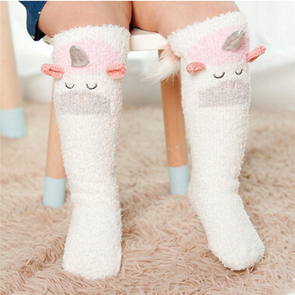 Unicorn & Friends Toddler Knee Socks, Children's Socks - Planet Moonbow