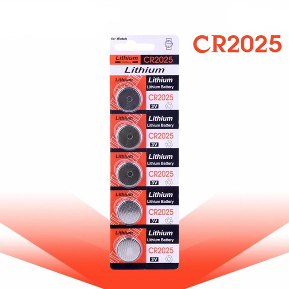 5 x cr2025 3-Volt Lithium Cell Batteries, Batteries - Planet Moonbow