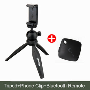 Mini Universal Phone Tripod with Bluetooth Selfie Remote, Photography Accessory - Planet Moonbow