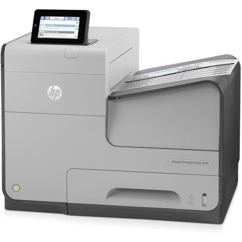 Imprimante à jet d'encre couleur HP Officejet Enterprise X555dn- Blanc
