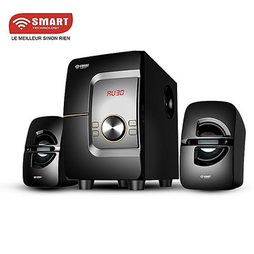 SMART TECHNOLOGY Système Audio Avec Haut-parleur Multimédia FM Radio /USB/SD Card/MP3 - STHB-4114M - Noir