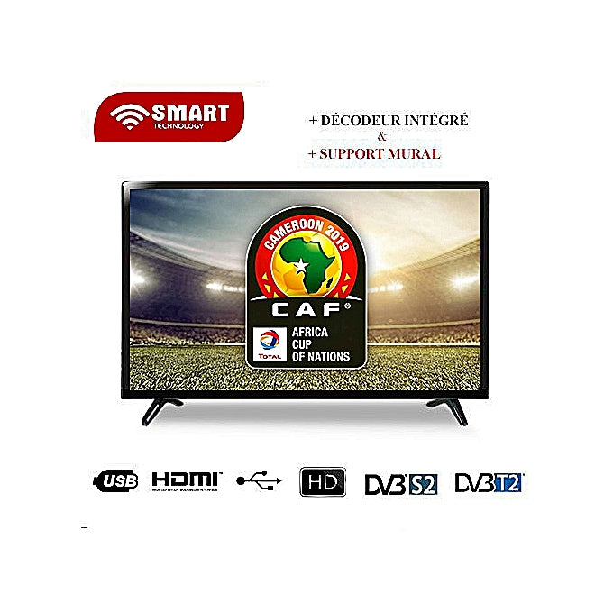 "SMART TECHNOLOGY TV LED HD - 24"" - STT-5524AE Ou STT-5524E - Noir"