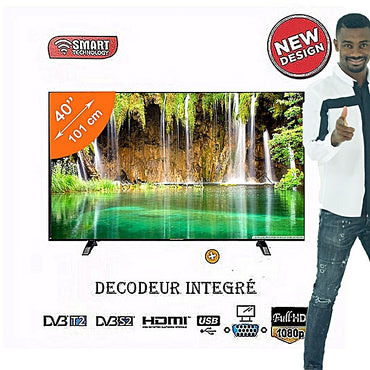 TV LED Full HD - SMART TECHNOLOGY - 40 Pouces-Noir - Garantie 12 Mois