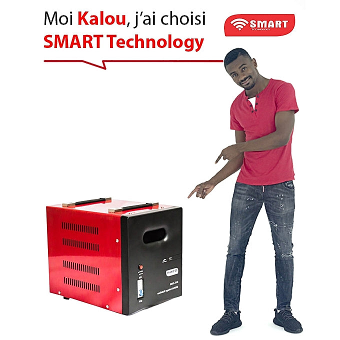 Régulateur De Tension Automatique - DVS-3000Va - 3000 Va - SMART TECHNOLOGY - Rouge - Garantie 3 Mois