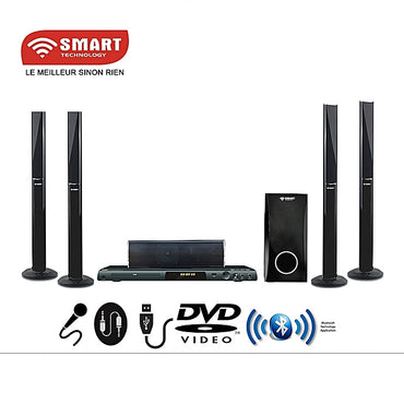 SMART TECHNOLOGY Home Cinéma STH-788 - PORT DVD ,CD ,VCD- HDMI / Bluetooth - Noir