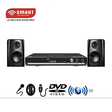 SMART TECHNOLOGY DVD Player /Dvd/CD-STH-689 - Port Usb -Bluetooth - Noir - Garantie 3 Mois