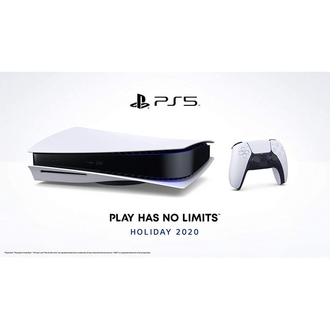 Sony PlayStation 5 + Une Manette Dualsense - Blanche