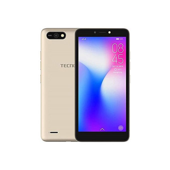 "Tecno Pop 2 - 5,5"" - 2Sim - 3G - 8 Mpx - 1/16Go - 2400 Mah - Or"