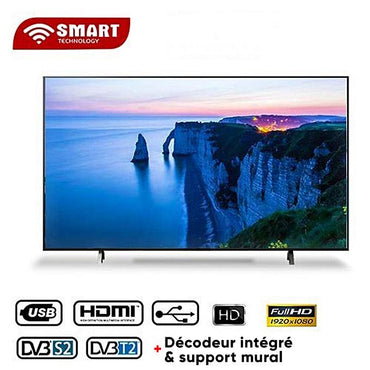 Téléviseur LED – Smart Technology - 50'' – STT -5550SE- FHD - HDMI/USB/AV - Support T2 + S2 – Wifi