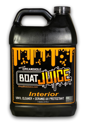 Boat Juice - Interior Cleaner with SiO2 Ceramic UV Protectant - Works Great on Upholstery, Vinyl, Plastic, Foam Flooring and Carpets - One Gallon