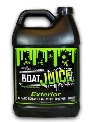*Boat Juice - Exterior Cleaner - Ceramic SiO2 Sealant - Water Spot Remover - Gloss Enhancer - Pina Colada Scent - 1 Gallon Jug