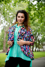 Tailfeather Unstructured Bolero Blazer with Contrast
