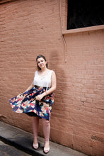 Hibiscus Silk Panel A-line Skirt