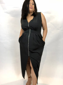 Onyx Tall Zip Dress