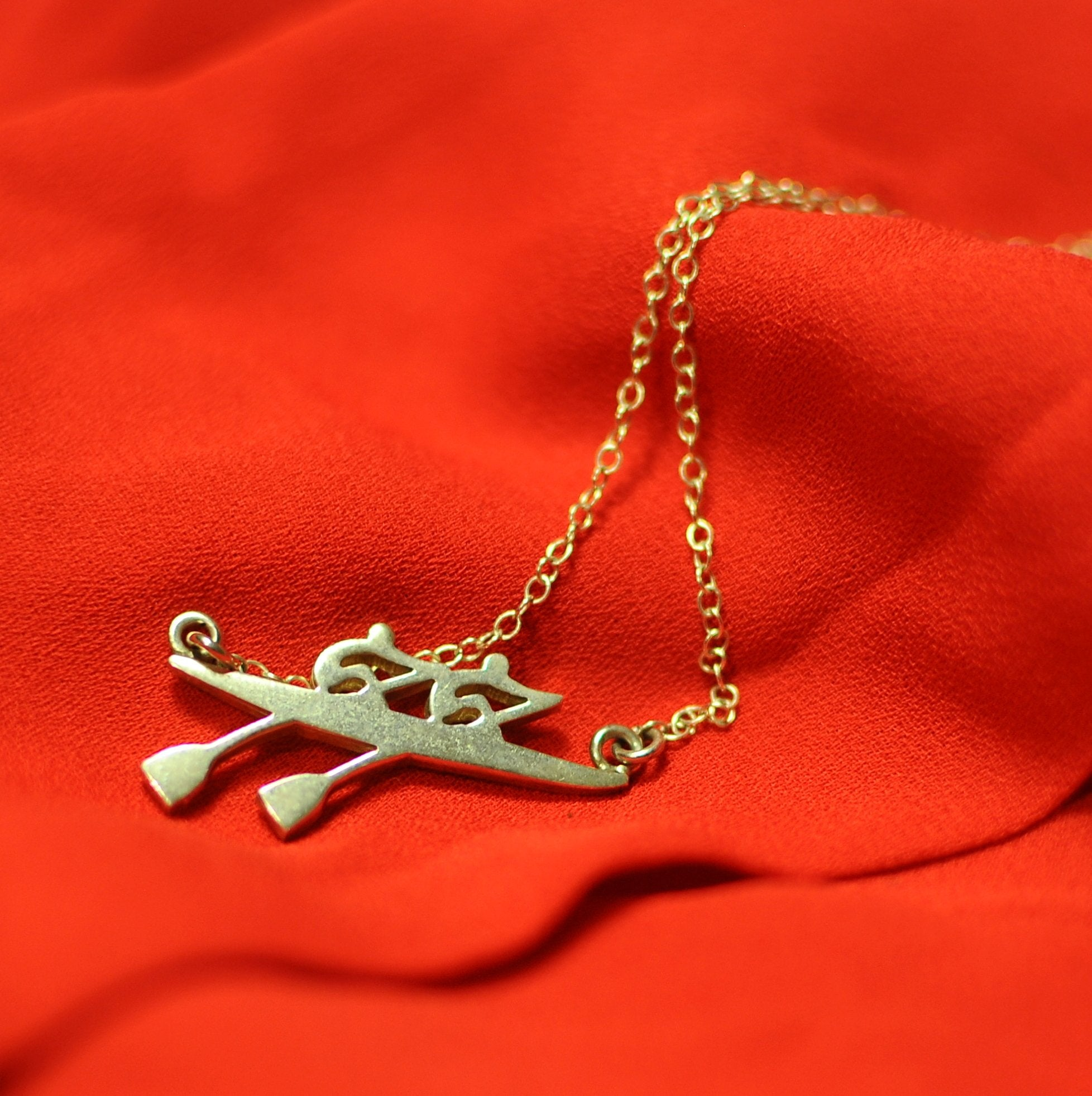 rowing pendant and rowing necklaces by strokeside designs Australia rowing jewellery