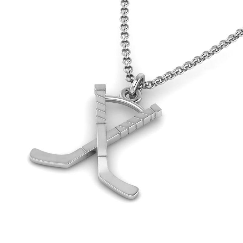 Ice Hockey Crossed Sticks Pendant ( Pre-Order ends 10/11)