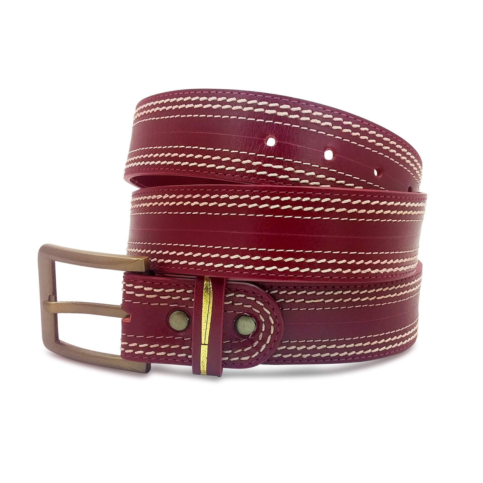 Cricket Leather Belt Men
