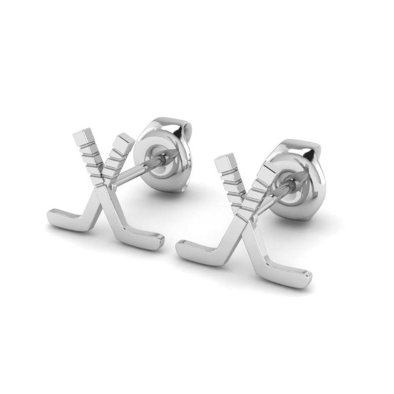 Ice Hockey Crossed Sticks Earrings ( Pre-Order ends 10/11)