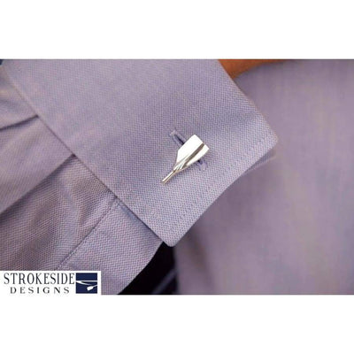 silver rowing cufflinks