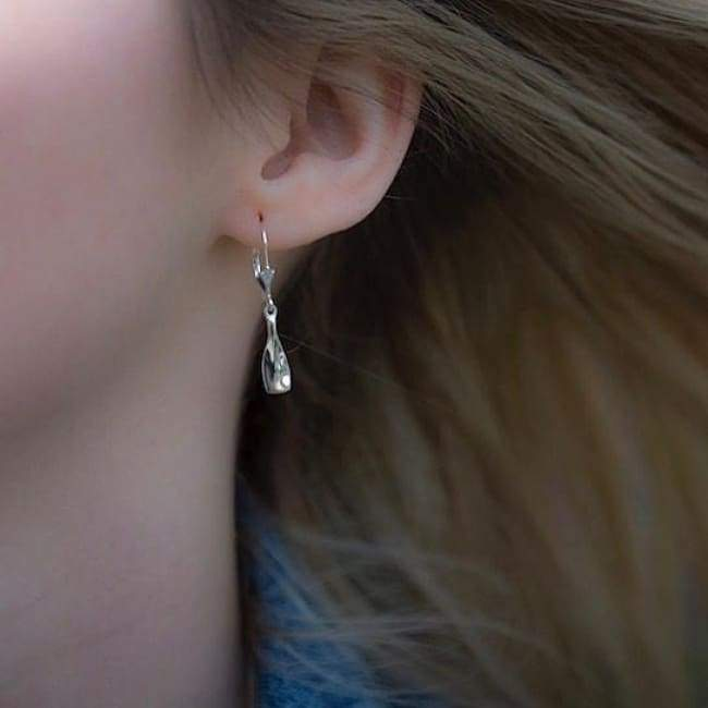 Rowing Hanging Earrings: Small Blade - Strokeside AU