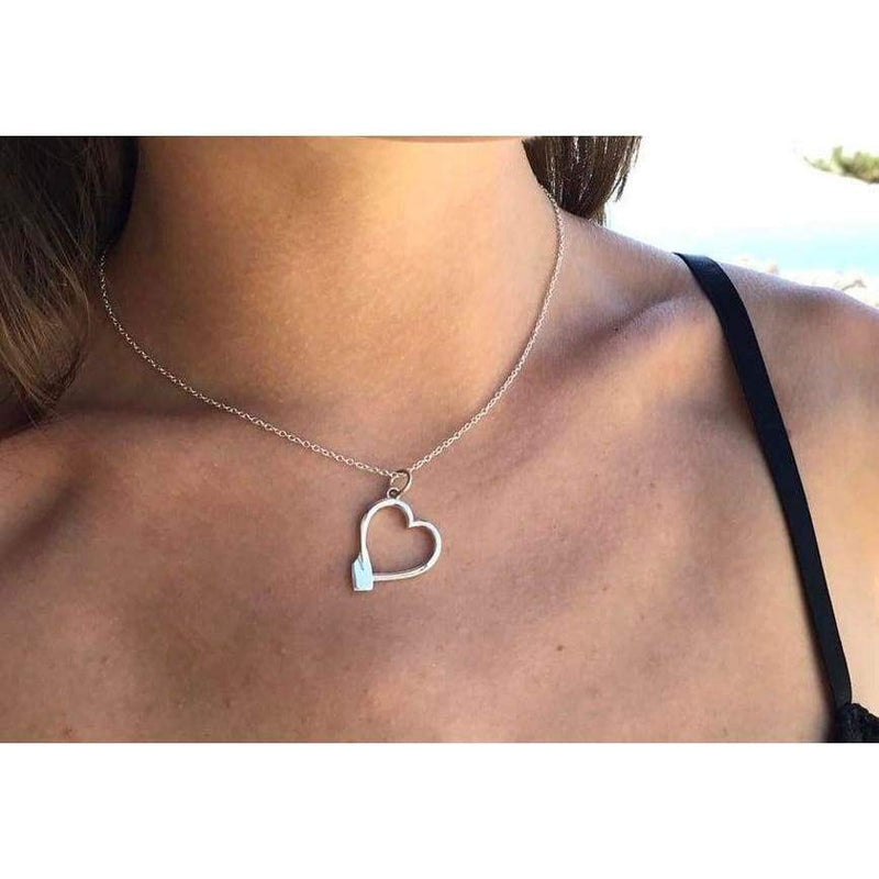 Rowing Heart Pendant - Strokeside AU