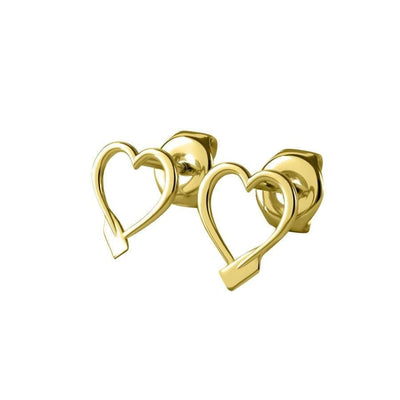 Rowing Heart Stud Earrings - Earring