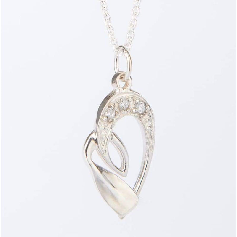 Rowing Jewelry: Heart Zircon Pendant