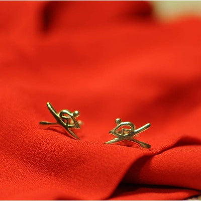 Rowing Oarsman Stud Earrings - Earring