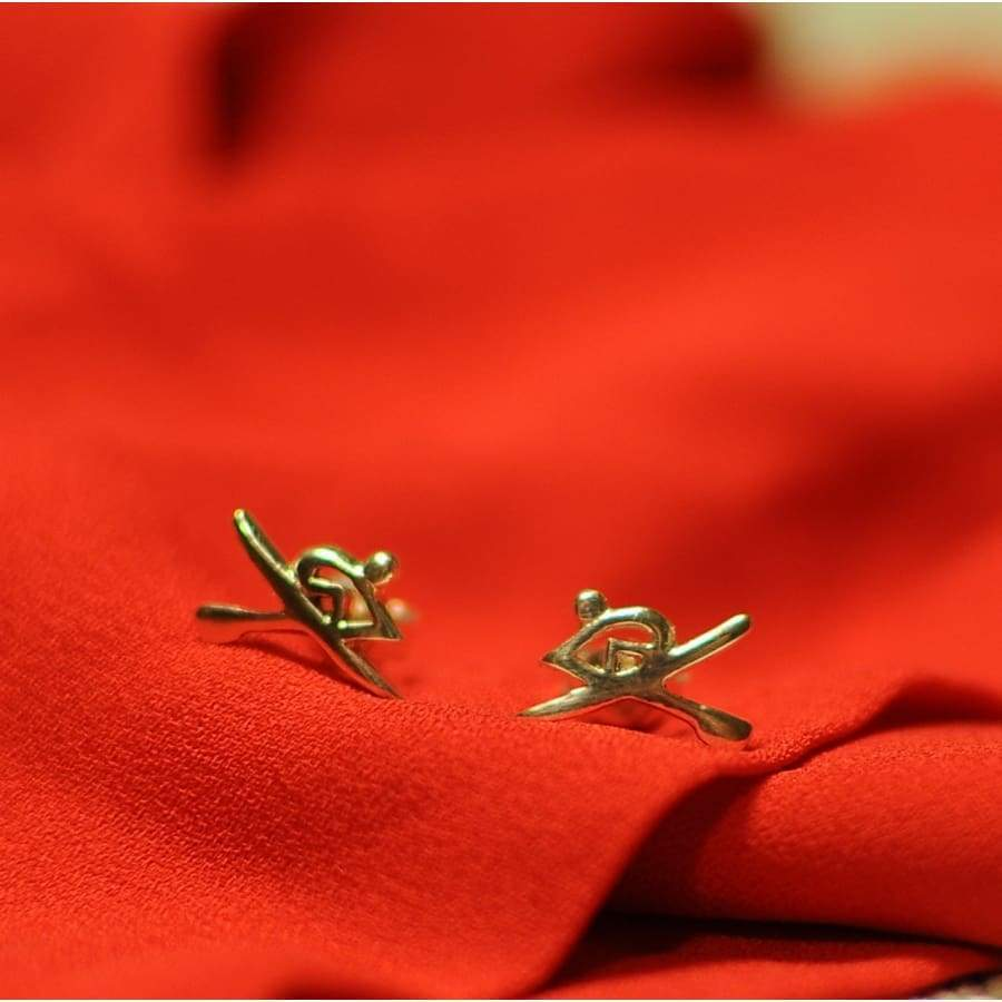 Rowing Oarsman Stud Earrings - Strokeside AU