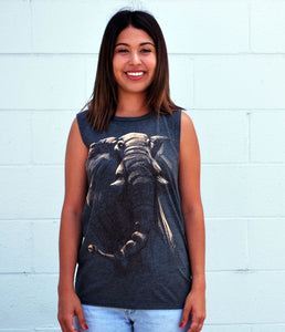 Women's Elephant Tank - David's Doodles