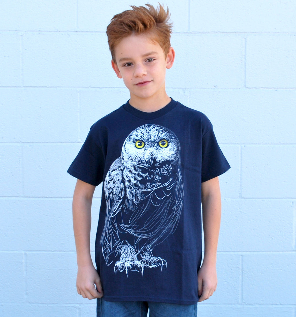 Kid's Owl Tee - David's Doodles