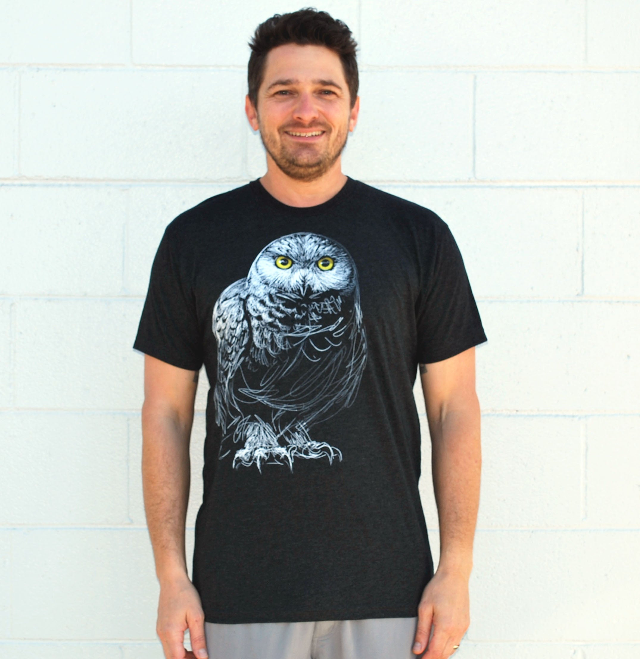 Men's Owl Tee - David's Doodles