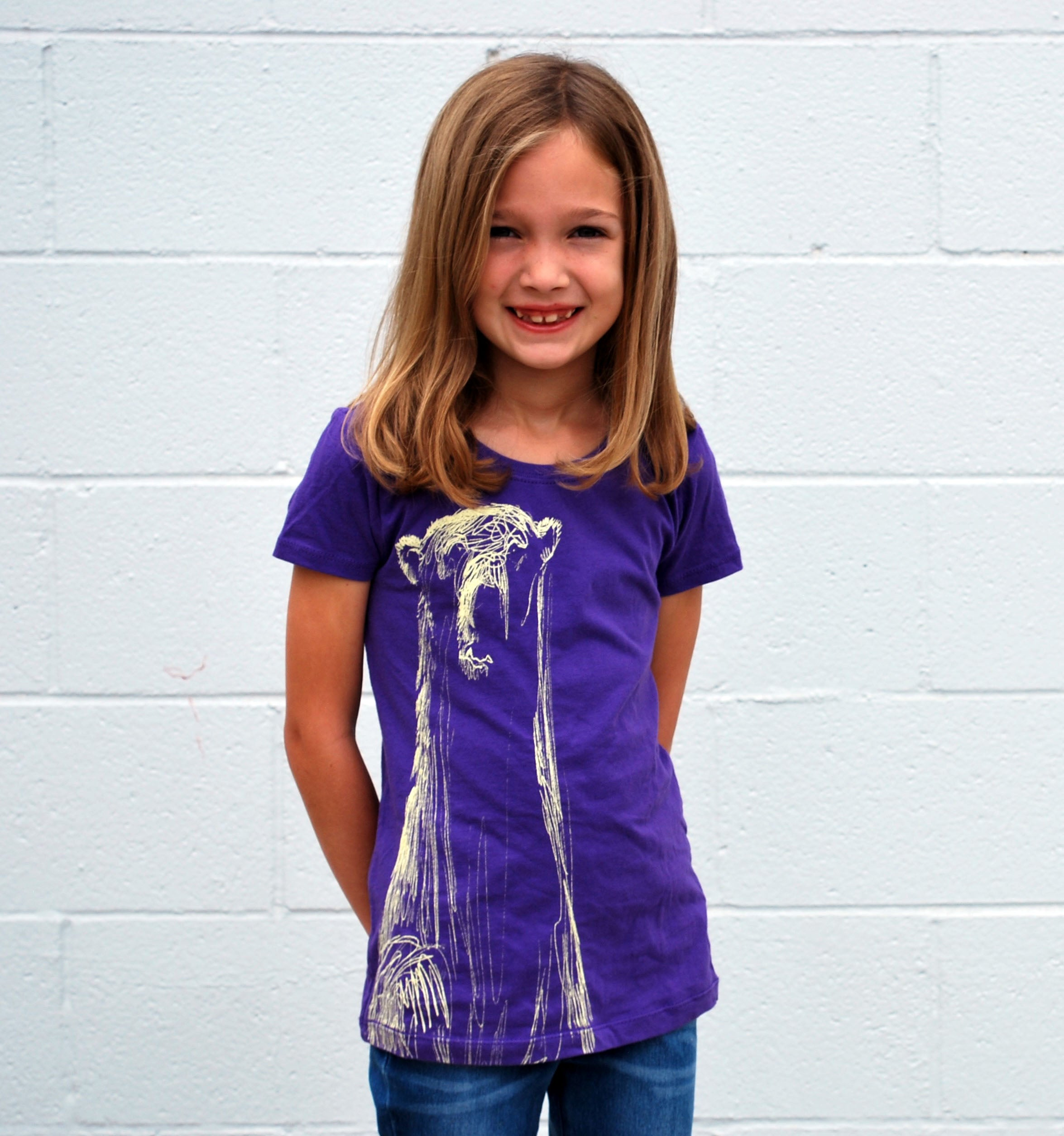 Girl's Polar Bear Tee - David's Doodles