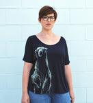 Women's Polar Bear Tee - David's Doodles