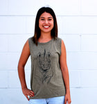 Women's Rhino Tank - David's Doodles