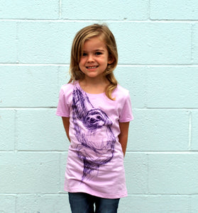 Girl's Sloth Tee - David's Doodles