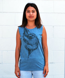 Women's Sloth Tank - David's Doodles