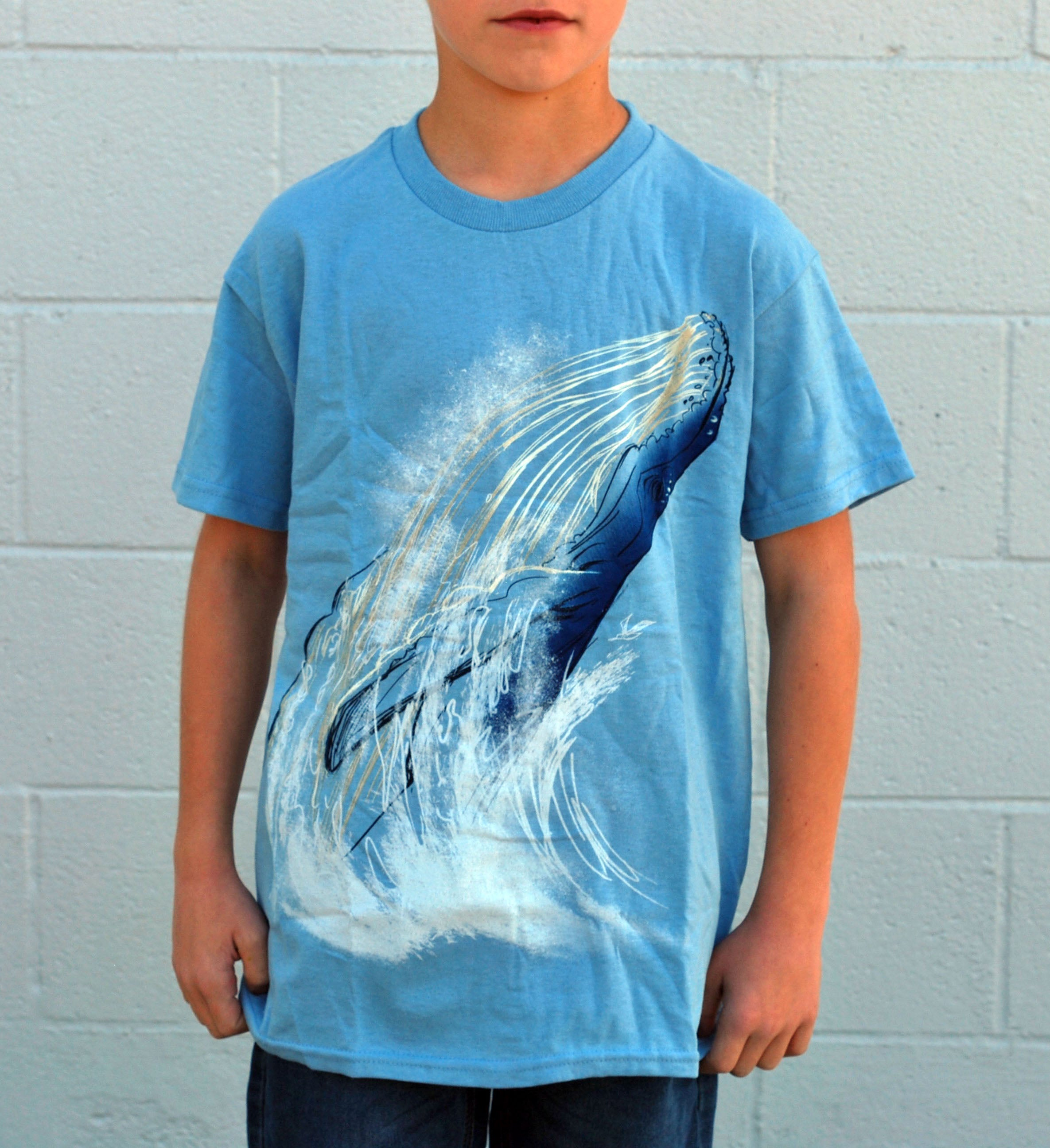 Kid's Whale Tee - David's Doodles