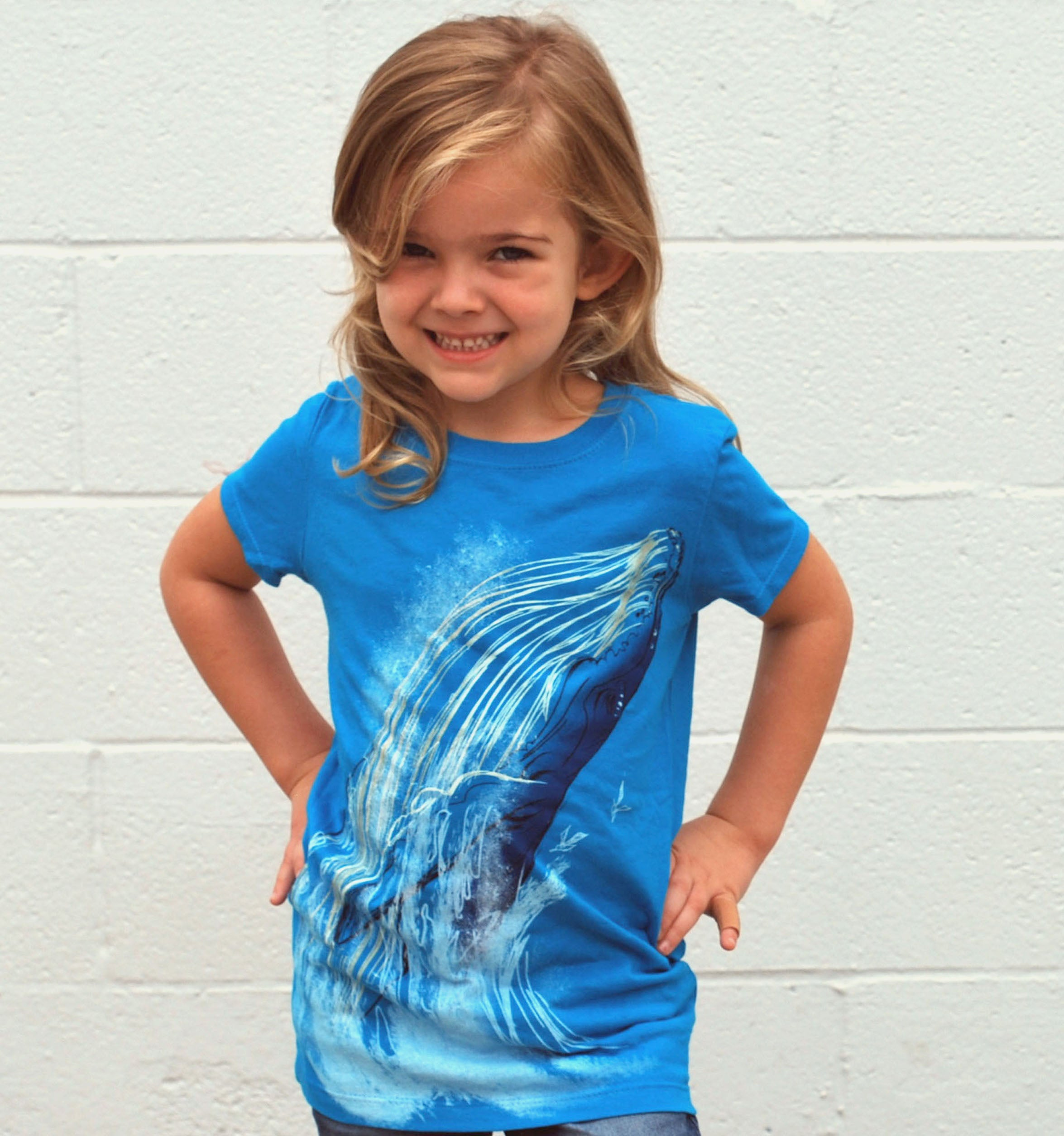 Girl's Whale Tee - David's Doodles