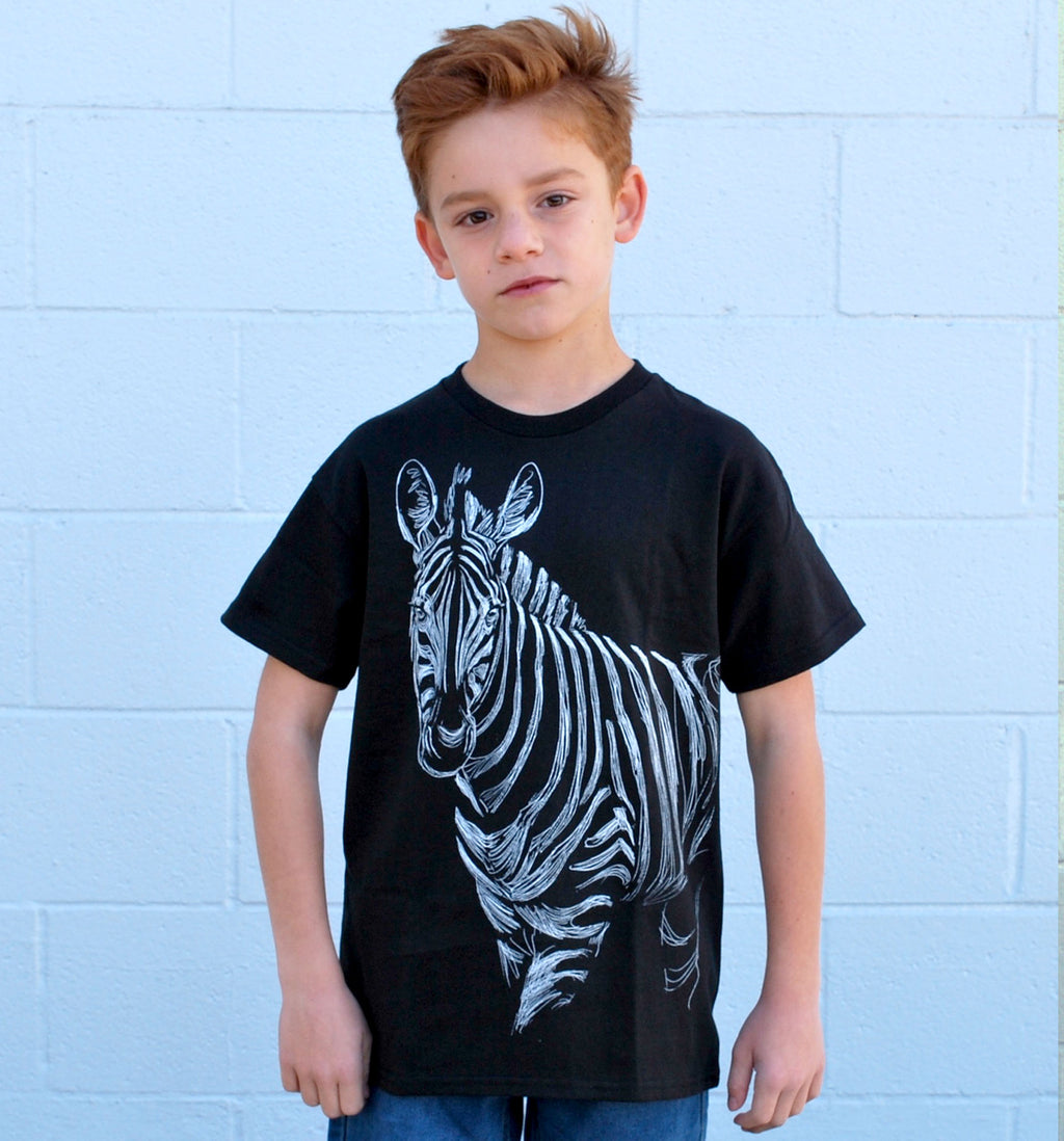 Kid's Zebra Tee - David's Doodles