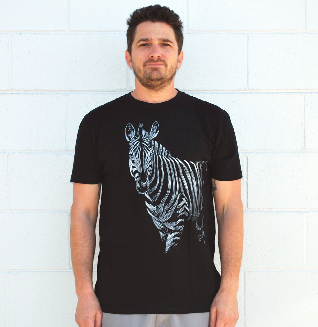 Men's Zebra Tee - David's Doodles