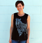 Women's Zebra Tank - David's Doodles