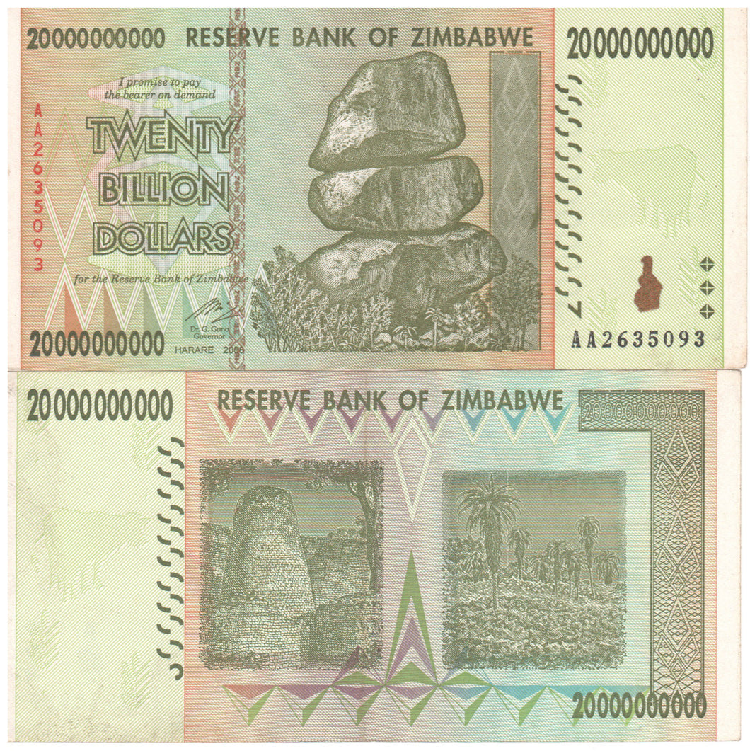 20 Billion Zimbabwe Dollars