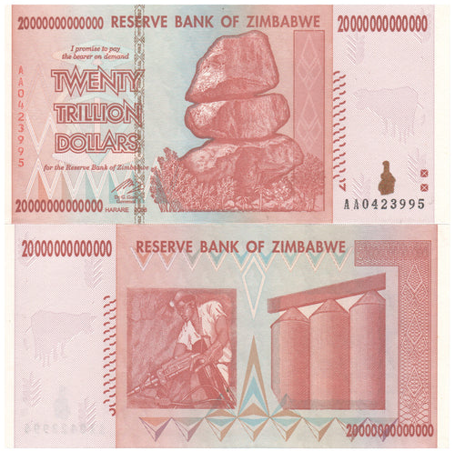 20 Trillion Zimbabwe Dollars