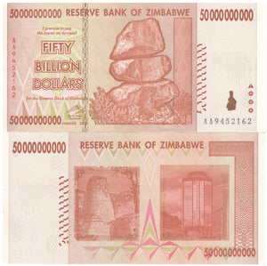 50 billion zimbabwe dollars