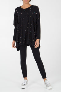 Black Pearl Oversized Jumper & Leggings