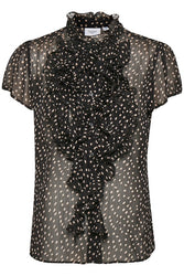 Drea Black Spot Blouse