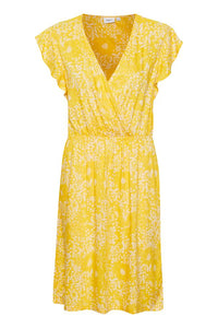Emmie Yellow Printed Dress
