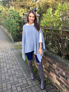 Grey Cape Knit