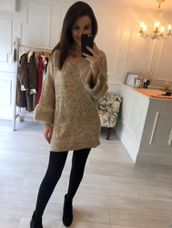 Stone Fur Detail Jumper/Dress